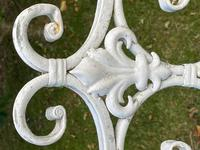 Large French Art Deco Style Fleur De Lis Garden Double Bowed  Curved Bench Seats 3 (22 of 37)