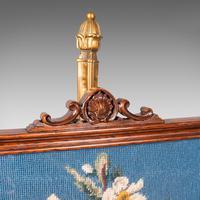 Antique Fireside Pole Screen, English, Rosewood, Needlepoint, William IV c.1830 (7 of 12)