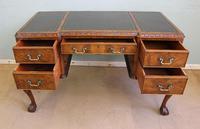 Quality Burr Walnut Kneehole Writing Desk (15 of 15)