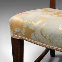 Pair of Antique Hepplewhite Revival Side Chairs, English, Seat, Victorian, 1890 (11 of 12)