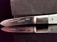 Vintage Sterling Silver & Mother of Pearl Fruit Knife (7 of 9)