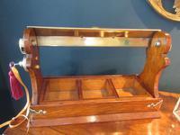 Late Victorian Polished Oak Three Bottle Tantalus (9 of 10)