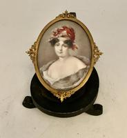 French School Miniature Portrait of 19th Century Lady c.1925 (3 of 5)