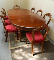 Mahogany extending dining table (4 of 8)