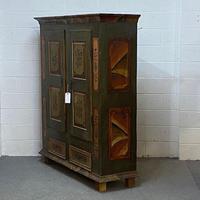 Beautiful Antique Pine Painted Wardrobe - Dismantles (3 of 7)
