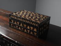Anglo-Indian Ebony & Porcupine Quill Jewellery Box (6 of 12)