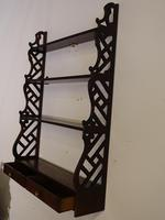 Most Attractive Chippendale Period Mahogany Hanging Rack (3 of 4)
