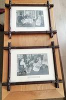 Antique Pair of Gothic Oak Frames