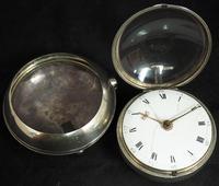 Antique Silver Pair Case Pocket Watch Fusee Verge Escapement Key Wind Enamel Dial W J Wolverhampton (6 of 11)
