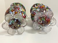 2 Beautiful Italian Murano Fratelli & Torso Millefiori Glass Vases (18 of 34)