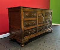 Beautiful 18th Century Georgian Period English Country Oak Mule Chest Sideboard Cabinet (2 of 19)