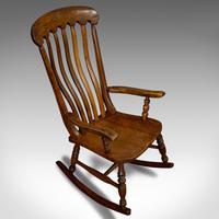 Antique Farmhouse Rocking Chair, English, Elm, Beech, Seat, Victorian c.1900 (7 of 12)
