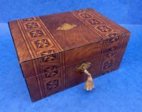 Victorian Mahogany Box with Tunbridge Ware Bands (2 of 15)