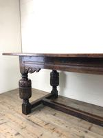 Antique Carved Oak Refectory Dining Table (7 of 15)