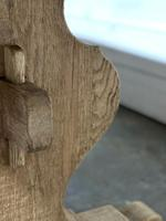 Bleached Oak French Trestle End Farmhouse Dining Table (13 of 28)
