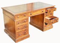 Superb Quality Victorian Mahogany Pedestal Desk (7 of 7)