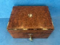 Victorian Burr Cedar Jewellery Box (2 of 11)
