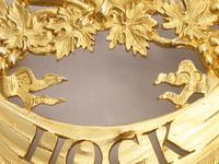 George III Silver Gilt Wreath Wine Label 'HOCK' by Digby Scott & Benjamin Smith - London 1806 (8 of 11)