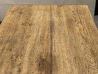 Superb Quality Large Bleached Oak Farmhouse Dining Table (18 of 32)