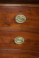 George III Period Strongly Shaped Mahogany Serpentine Chest (3 of 4)