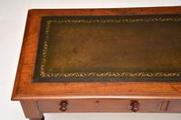 Antique Victorian Mahogany Leather Top Writing Table / Desk (2 of 9)