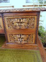 Country Oak Lions Head Pedestal Desk 1860 (11 of 12)