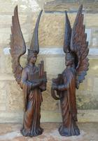 Good Pair of Carved Oak Angels 19th Century (3 of 12)