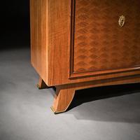 Jules Leleu, French Art Deco Walnut Parquetry Buffet Sideboard Signed Jules Leleu (9 of 11)