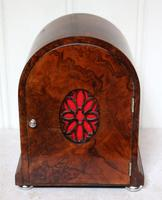 Burr Walnut Arch Top Bracket Clock (4 of 11)