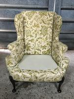 Queen Anne Style French Wing Back Chair (5 of 9)