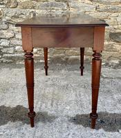 Antique Victorian Mahogany Two Drawer Side Table (12 of 20)
