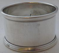 Boxed Set 4 Hallmarked Solid Silver Napkin Rings Serviette Charles Perry & Co (5 of 7)