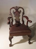 A Pair of Finely Carved Early 20th Century Mahogany Armchairs (2 of 7)