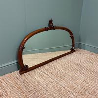 Victorian Mahogany Antique Overmantle Mirror (5 of 7)