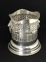 Vintage Silver Plated Two Handle Bottle Holder (6 of 6)