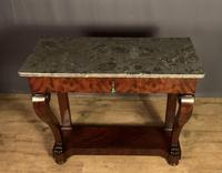 French Louis Philippe Period Mahogany Console Table (4 of 12)