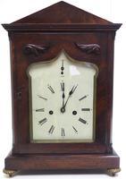 Unusual & Rare Mahogany Bracket Clock Taj Mahal Bezel & Dial Mantel Clock (10 of 10)