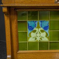 Arts & Crafts Oak Washstand with Marble Top (14 of 14)