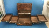 Victorian Brassbound Walnut Cigar Box (18 of 19)
