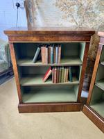 Pair of Burr Walnut Open Bookcases (5 of 8)