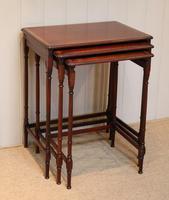 Mahogany Nest of Three Tables (2 of 11)