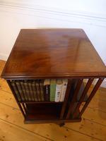 Inlaid Mahogany Revolving Bookcase (8 of 9)