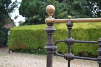 Original Victorian Brass and Iron King Size 5ft Bedstead. Bed Fully Restored in Your Choice of Colour (11 of 15)