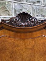 Antique Burr Walnut Double Bed (5 of 9)