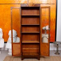 Art Deco Oak Glazed Bookcase (4 of 11)