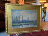 St Johns College, Cambridge 'John Henry Leonard' (1834-1904) Landscape Painting (6 of 12)