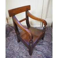 Scottish Vernacular Laburnum Childs Chair (4 of 5)