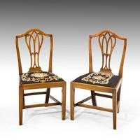 Very Good Set of Six George III Period Hepplewhite Mahogany Framed Single Chairs (2 of 7)