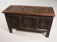 Early 18th Century Oak Panelled Coffer