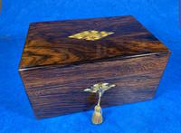Victorian Rosewood Jewellery Box with Mother of Pearl & Abalone Escutcheons (3 of 14)